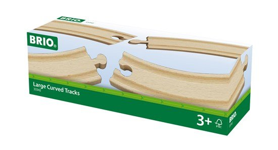 "Brio BRIO 33342 - Grands rails courbes - 6.9"" - 4pcs"