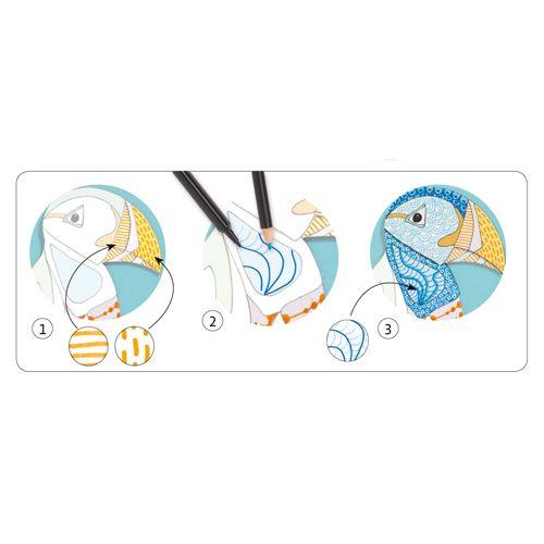 Djeco L'Art du motif - Feutres pinceaux