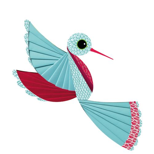 Djeco Djeco 09443 Iris paper folding / Bird