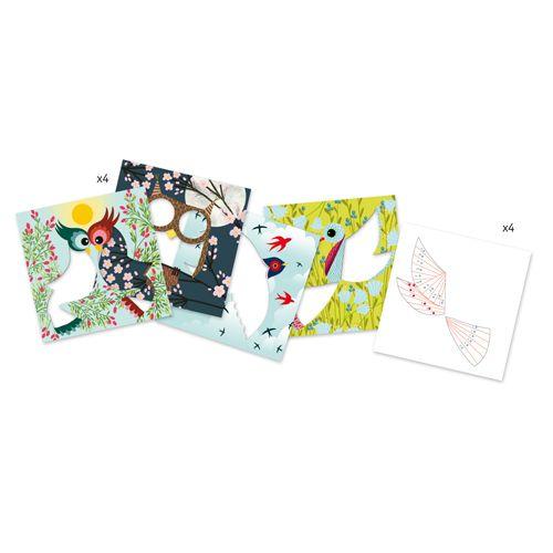 Djeco Djeco 09443 - Plisse papier oiseau