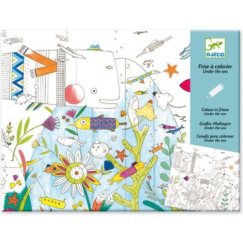 Djeco Ocean - Frise a colorier
