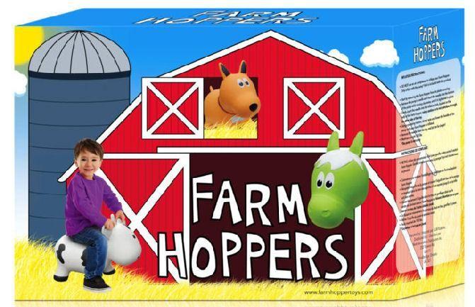 Farm Hoppers FARM HOPPERS Animal Sauteur FHA1106 - Vache Rouge