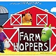 Farm Hoppers FARM HOPPERS Animal sauteur FHA1103 - Vache bleue