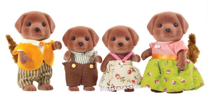 Calico Critters CALICO CRITTERS CF1454 - Chocolate Labrador Family