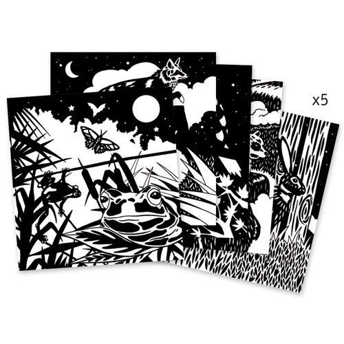 Djeco Djeco 09623 Colouring velvet / The forest