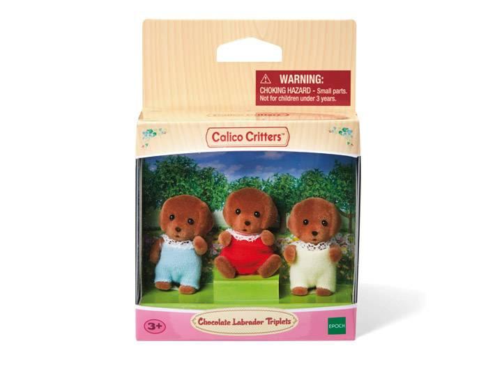 Calico Critters CALICO CRITTERS CC1452 - Triplés Labrador chocolat