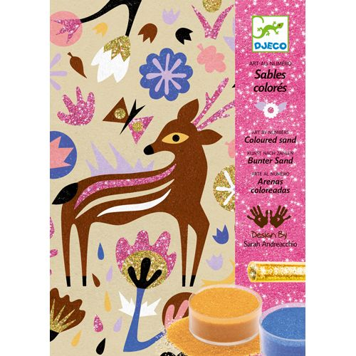 Djeco Djeco 08662 Colored sand / Woodland Wonderland