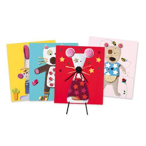 Djeco Djeco 08664-Collages pour les petits-petits animaux