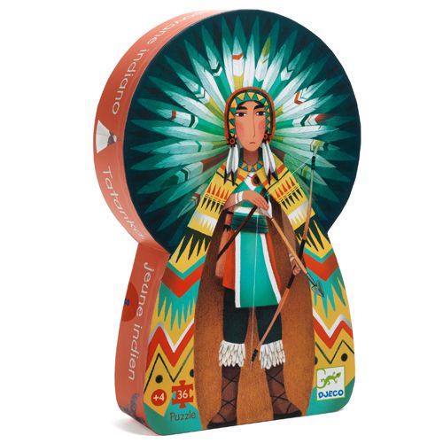 Djeco Silhouette Puzzle / Tatanka, young indian, 36 pcs