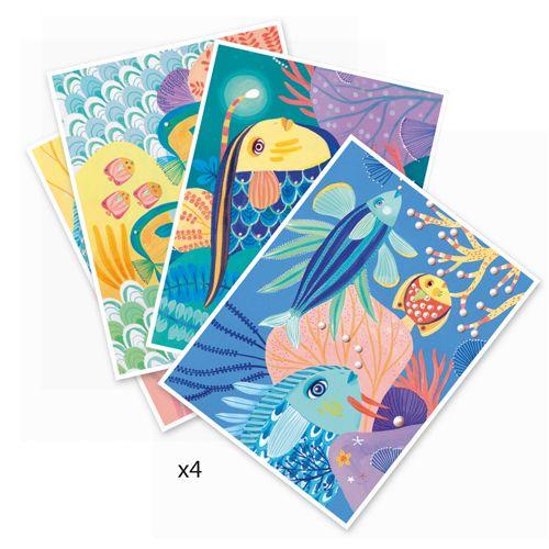 Djeco Djeco 08647-Sous la mer - Feutres & pinceaux