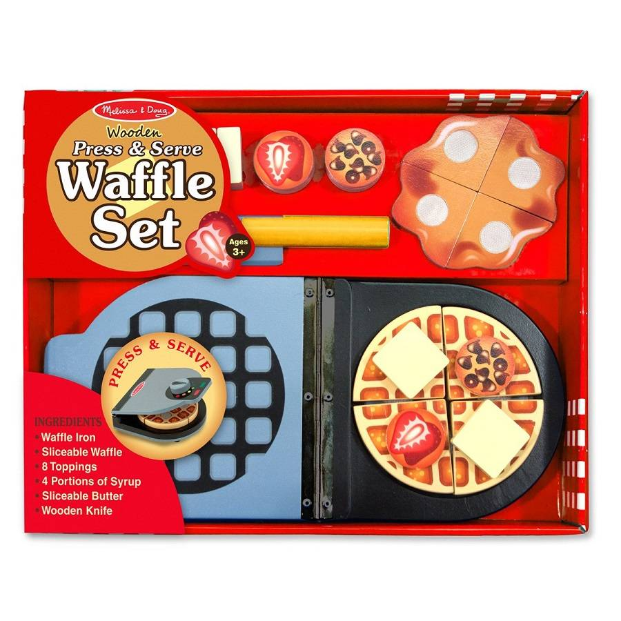 Melissa and Doug Melissa & Doug 9346 Wooden Press & Serve Waffle Set