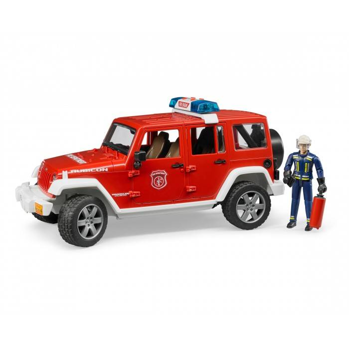 Bruder Bruder 02528 Jeep Rubicon Fire Vehicle with Fireman