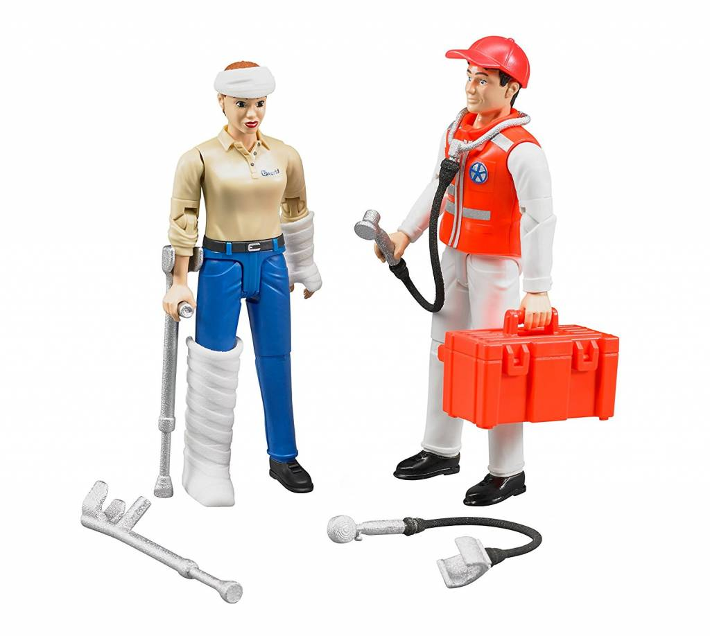 Bruder Bruder 62710 Ensemble de Figurines Ambulance