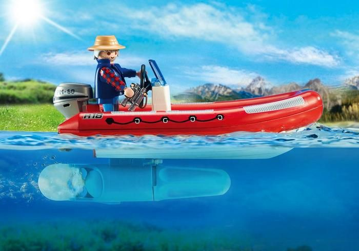Playmobil Playmobil 5559 Inflatable Boat with Explorers