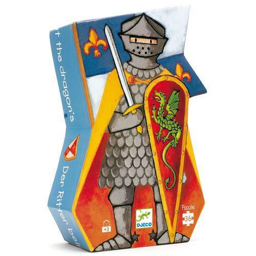 Djeco Silhouette Puzzle/ Knight and dragon / 36 pcs