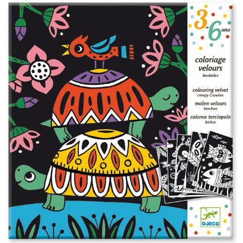 Djeco Djeco DJ09624 Coloriage velours - Creepy crawlies