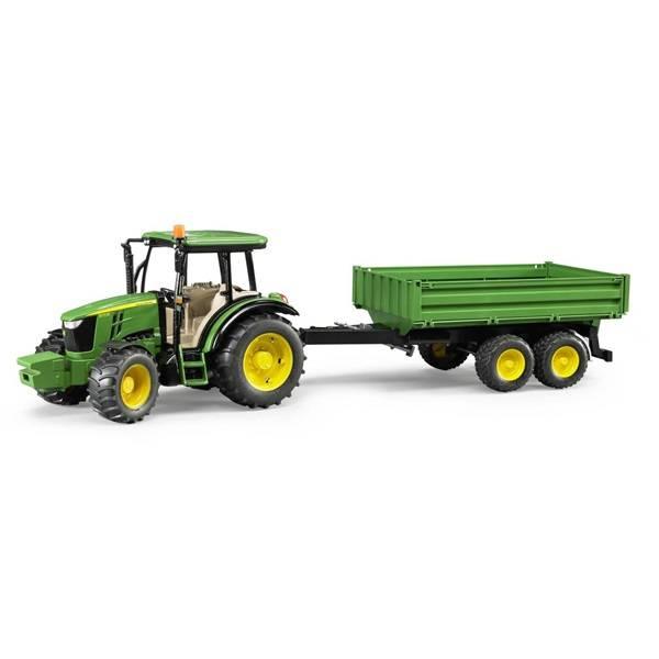 Bruder Bruder 09816 Tracteur John Deere 5115M avec Remorque
