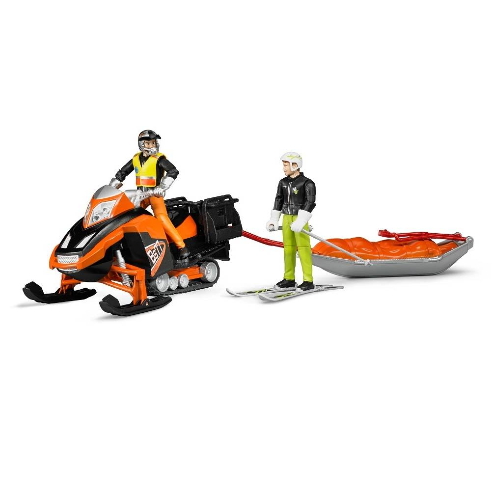 Bruder Bruder 63100 Snowmobile with Driver and Rescue Sled Vehicle