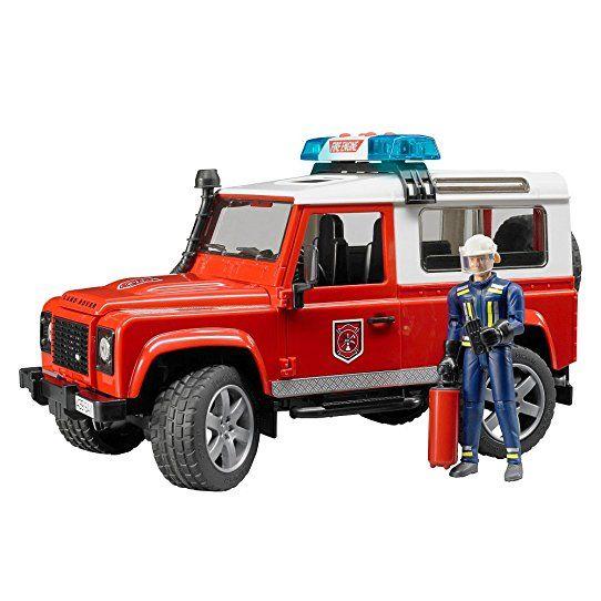 Bruder Bruder 02596 Land Rover Defender with Fireman