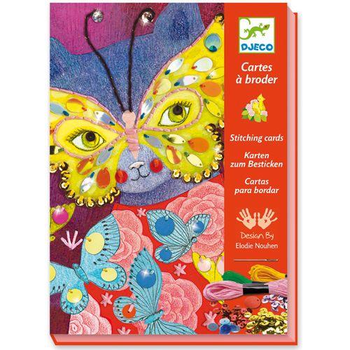 Djeco Djeco 08669 - Cartes a broder - elegant carnaval