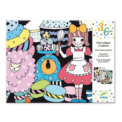 Djeco Djeco 09625 Colouring velvet / Sweet parade