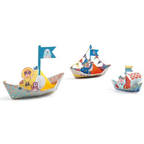 Djeco Djeco 08779 - Origami - Petits bateaux