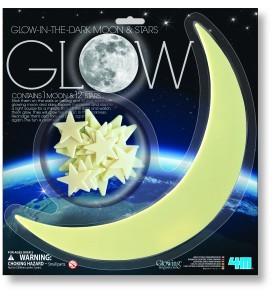 KidsLab 4m 4M P5215 - Glow in the dark Moon and Stars