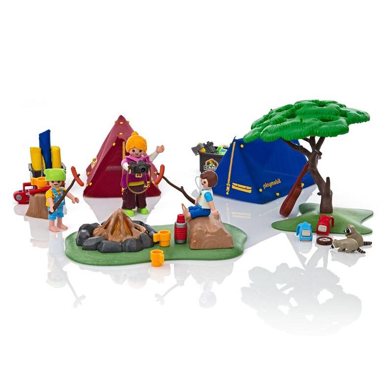 Playmobil Playmobil 9153 Camp Site with  Fire