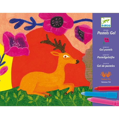 Djeco Djeco 08617 - Gel pastels / Wild things