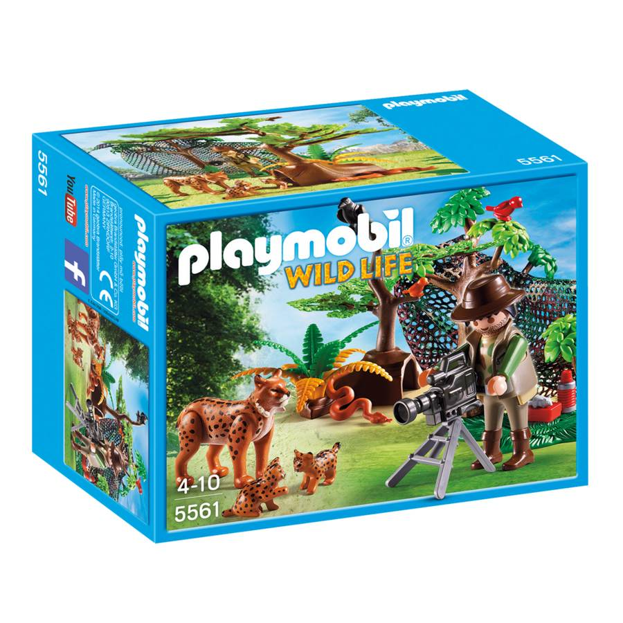 Playmobil Playmobil 5561 Lynx Family with Cameraman