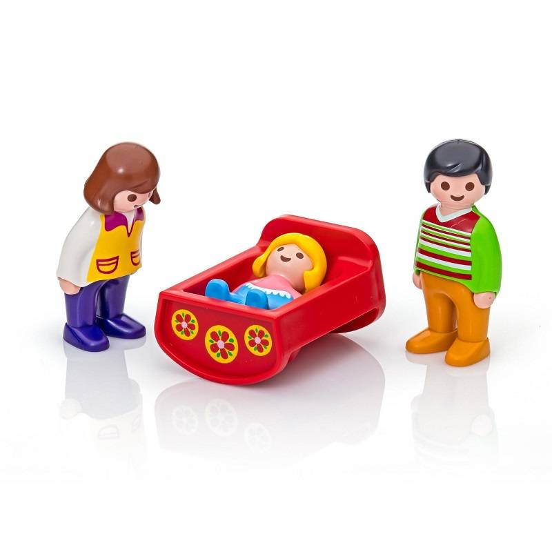 Playmobil Playmobil 6966 Parents with Baby Cradle