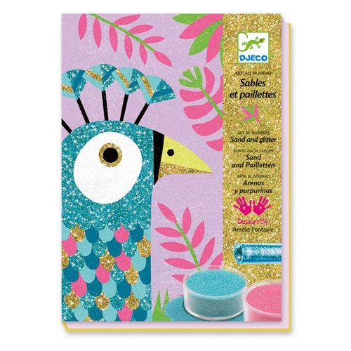 Djeco Djeco 08663 Colored sand / Dazzling birds