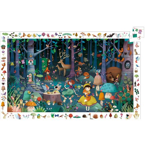 Djeco Djeco 07504 Observation puzzle / Enchanted forest / 100 pcs