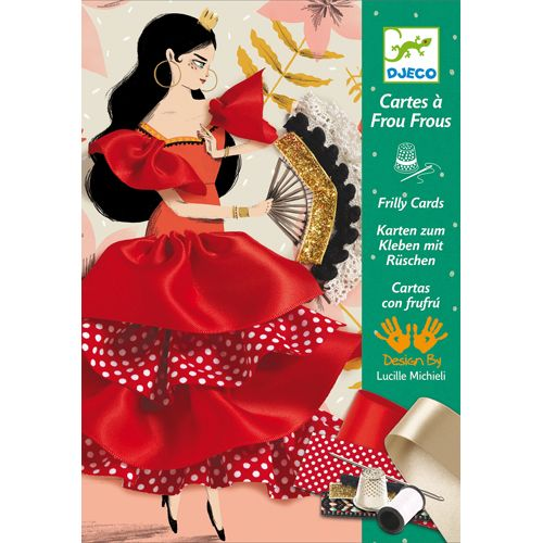 Djeco Djeco 08674 Frilly cards / Flamenco