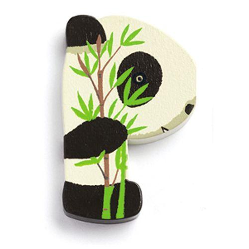 Djeco Djeco 09855 Wooden Letter / Animal / P