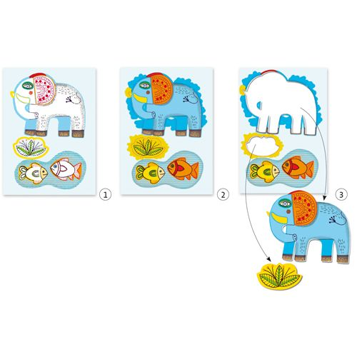Djeco Djeco 08990 Colouring for toddles / Zoo zoo