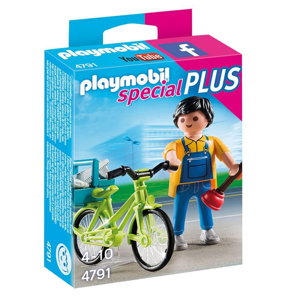 Playmobil Playmobil 4791 Bricoleur avec Matériel et Vélo