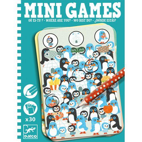Djeco DJECO 05332 - Mini games- Où es-tu?
