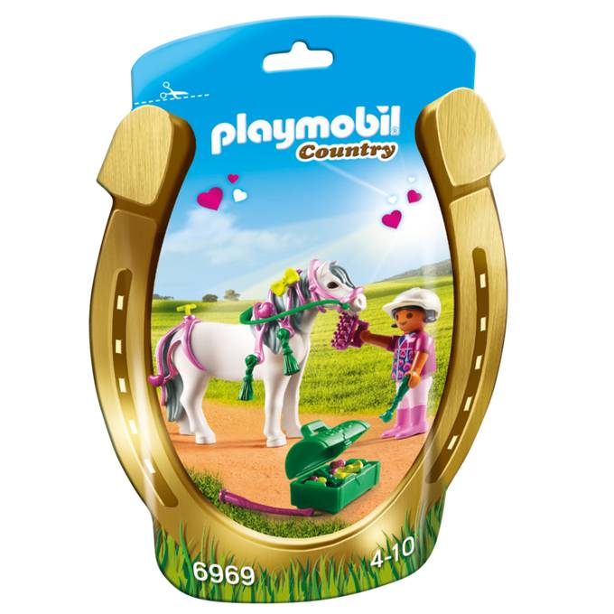 Playmobil Playmobil 6969 Groomer with Heart Pony
