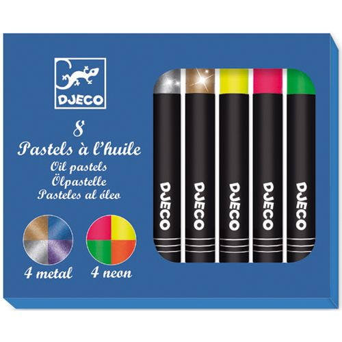 Djeco Djeco 09749 8 oil pastels / Pop colours