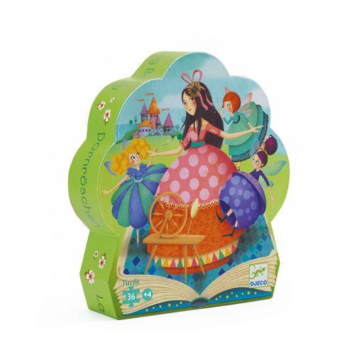 Djeco Djeco 07203 -  Silhouette puzzle / Sleeping Beauty / 24 pcs