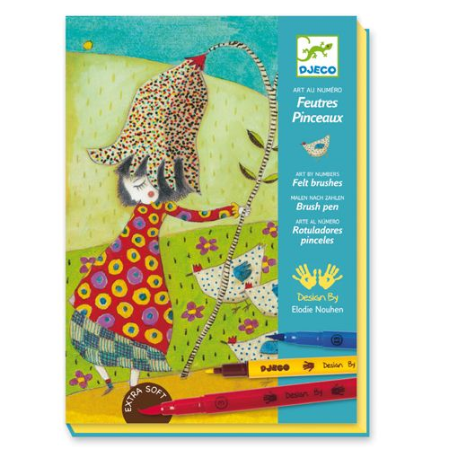 Djeco Djeco 08640 - Felt Brushes / With Flowers
