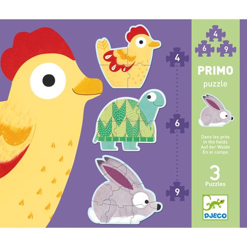 Djeco Djeco 07142 Primo Puzzle / In the meadows / 4,6,9 pcs