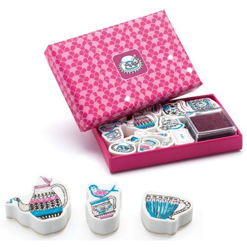 Djeco Djeco 09787 Mini stamps / Tea time