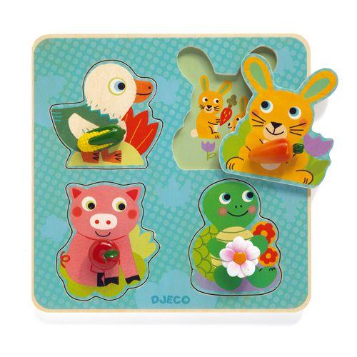 Djeco DJeco 01048 Wooden Puzzle / Croc-carrot