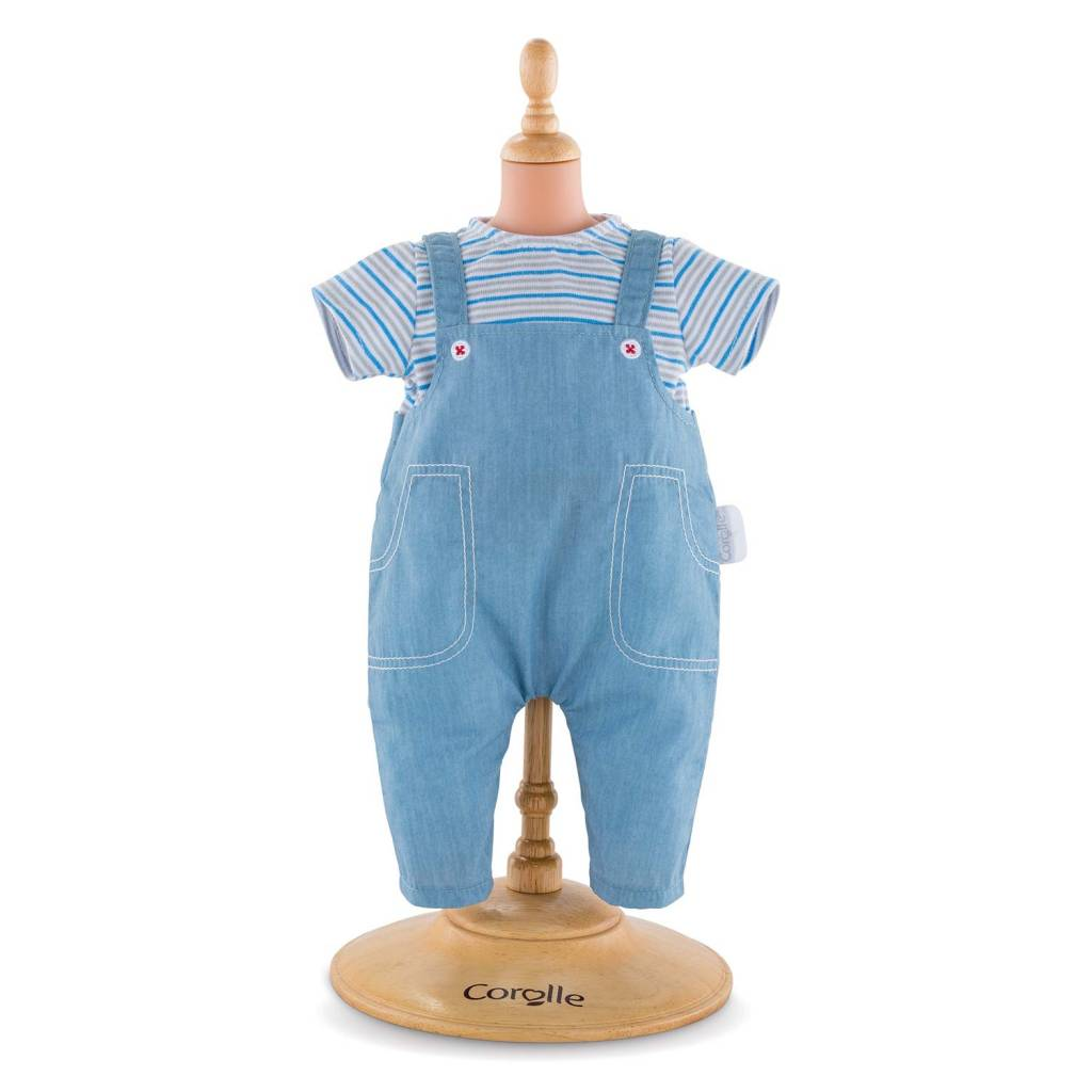 Corolle Corolle FPP35 Striped T-Shirt and Overalls 30cm