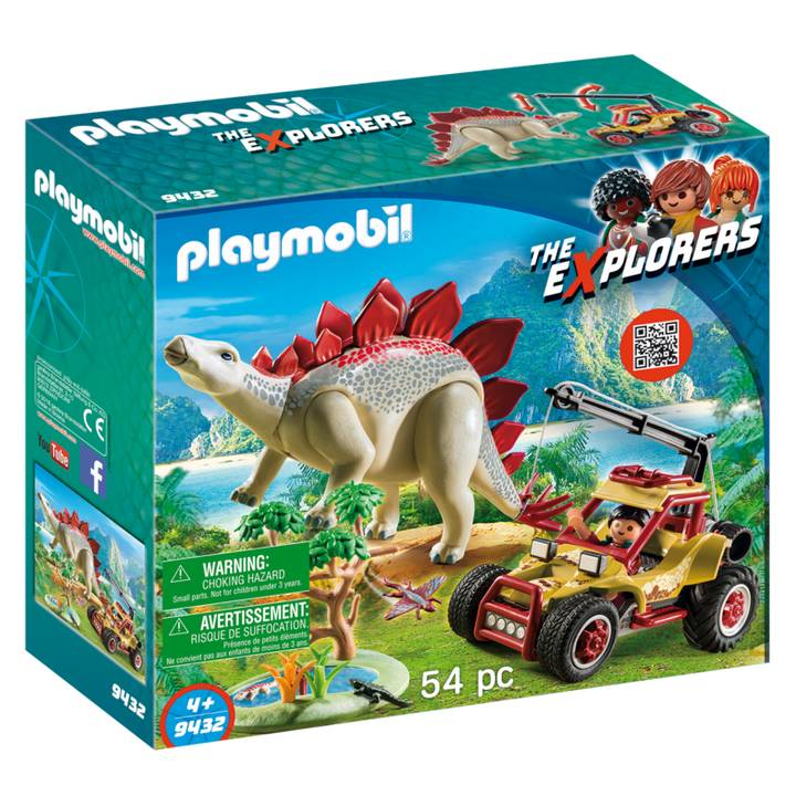 Playmobil Playmobil 9432 Explorer with Vehicle and Stegosaurus