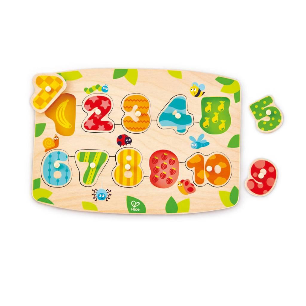 Hape Hape E1404 Number Peg Puzzle