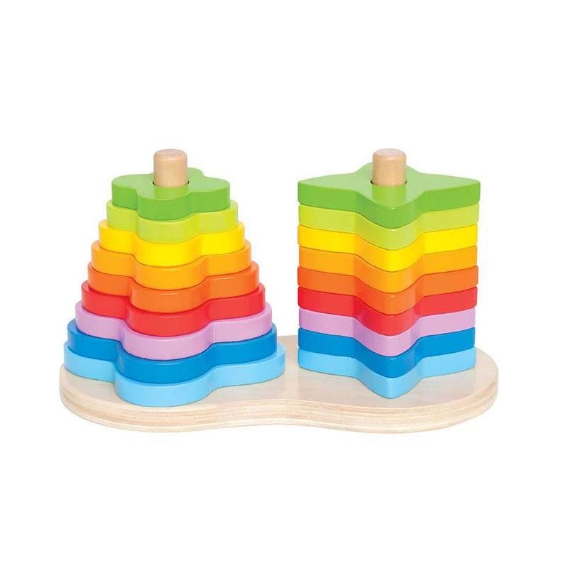 Hape Hape E0406 Double Rainbow Stacker