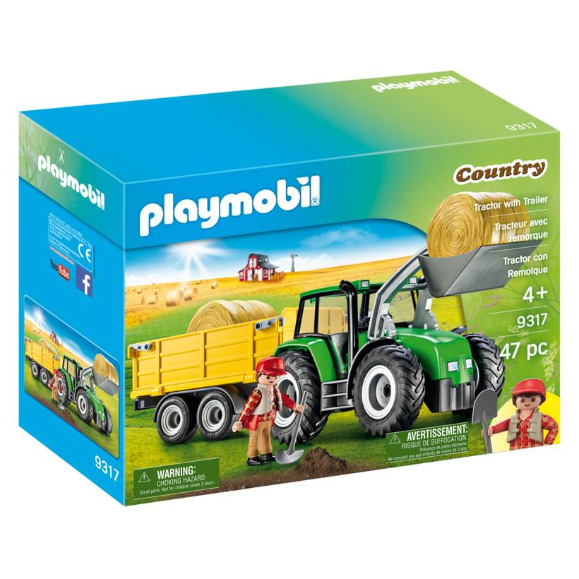 Playmobil Playmobil 9317 Tractor with Trailer